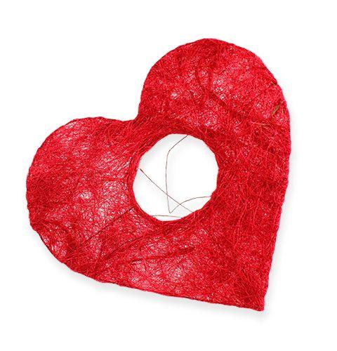 Sisal-ranneke 10cm punainen 12kpl