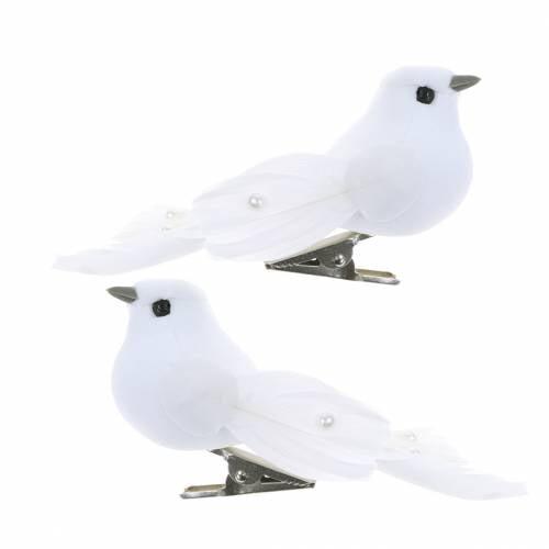 Dove helmillä ja klipsillä valkoinen H4.5cm 12kpl