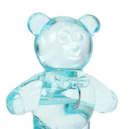 Syntymäpöydän koriste karhu sininen 3,5cm 60kpl