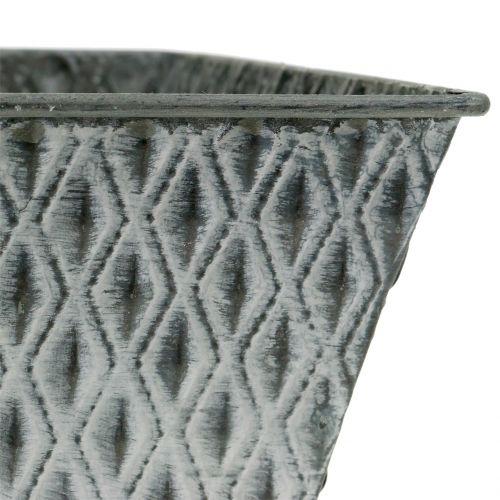 Sinkkipannu timanttikuviolla H11.5cm