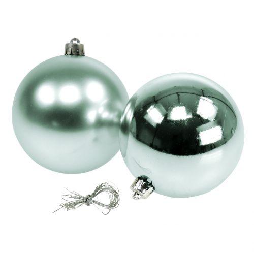 Joulupallo murtumaton kevyt vihreä lajiteltu Ø10cm 4kpl 4kpl