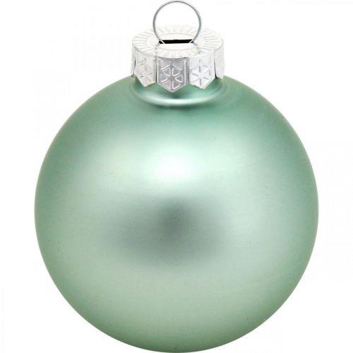 Joulukuusenkoristeet, kuusipallosekoitus, minijoulupallot sininen H4,5cm Ø4cm aitoa lasia 24kpl.