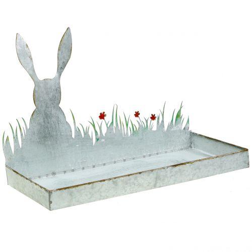 Sinkkikulho kevätniitty pääsiäispupun kanssa 35cm x 16cm K24cm