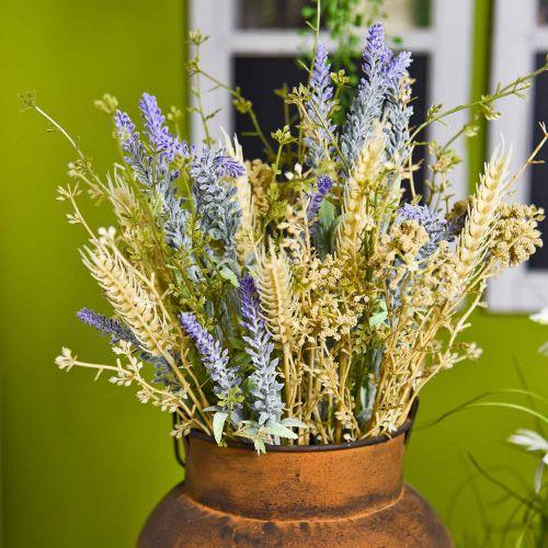 Keinotekoinen laventeli kimppu, silkkikukkia, kenttä kimppu laventeli piikkejä ja Meadowsweet kanssa