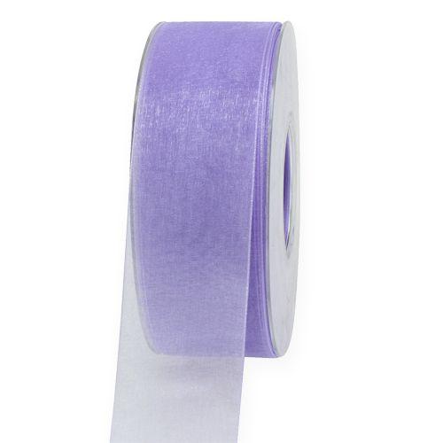 Organzanauha nauhalla 4cm 50m vaalean violetti