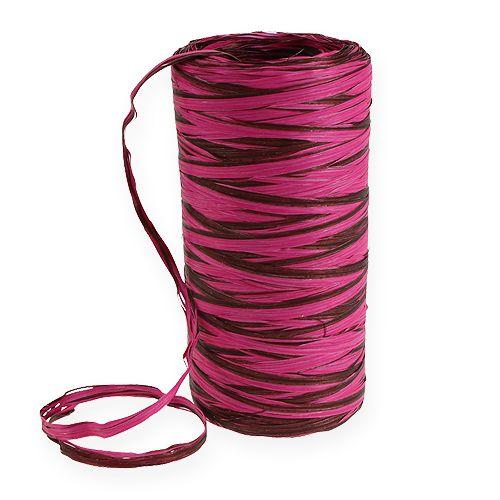 Raffia-nauha kaksivärinen vaaleanpunainen-ruskea 200m