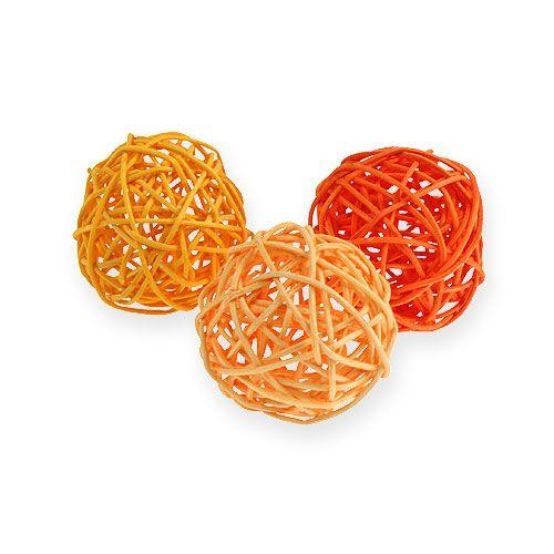 Rottinkipallot Ø4.5cm oranssi valikoima 30kpl
